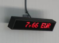 Pantalla de precio para la subasta